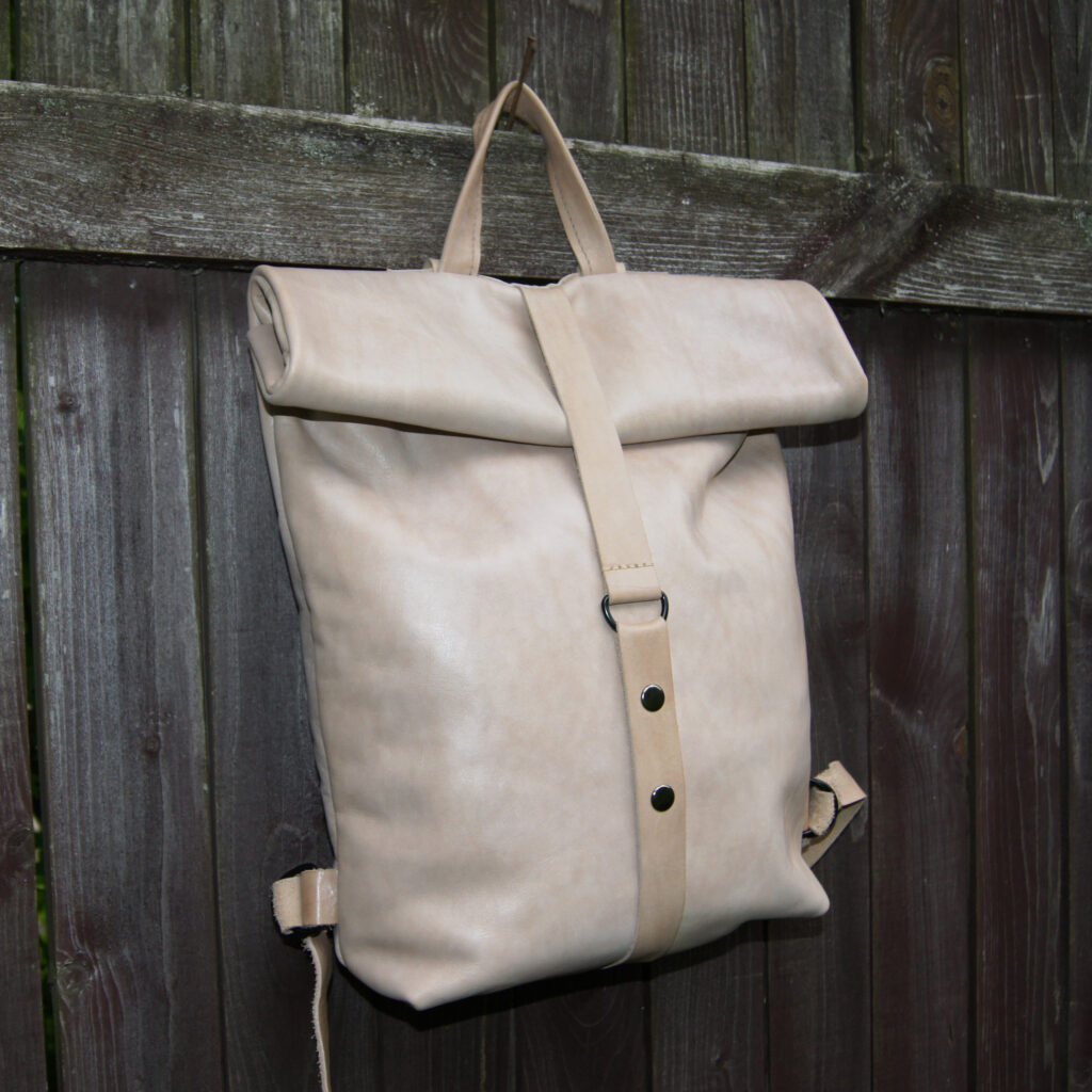 рюкзак роллтоп из натуральной кожи