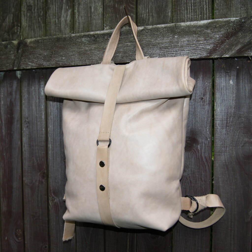 рюкзак роллтоп из натуральной кожи на заказ