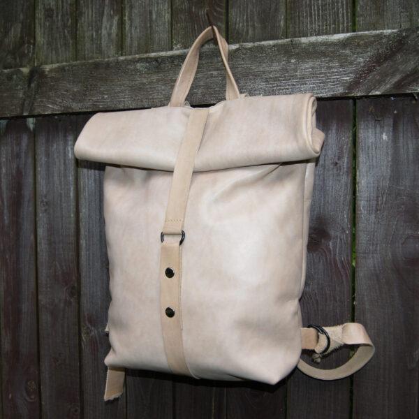Рюкзак Ролтоп Rolltop из натуральной кожи