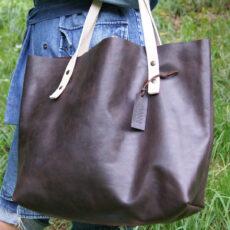 Большая кожаная женская сумка Шоппер Тоут