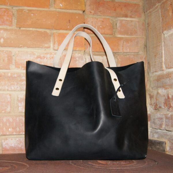 кожаная сумка шоппер tote bag