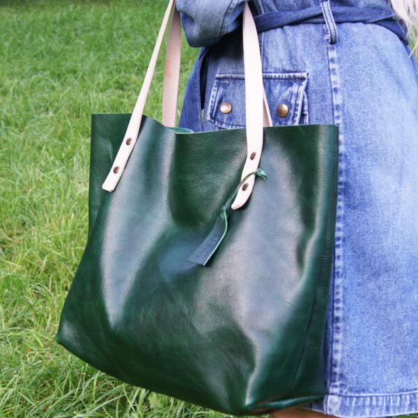 Женская сумка шоппер из натуральной кожи на заказ