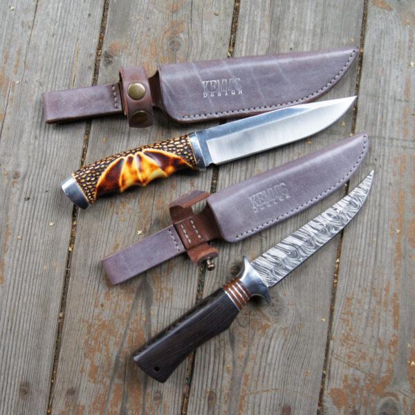 Ножны из натуральной кожи для ножа на заказ