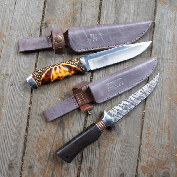 Кожаные ножны для ножа на ремень на заказ