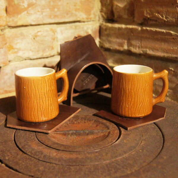 Подставки кожаные для бокалов чашек бара стаканов