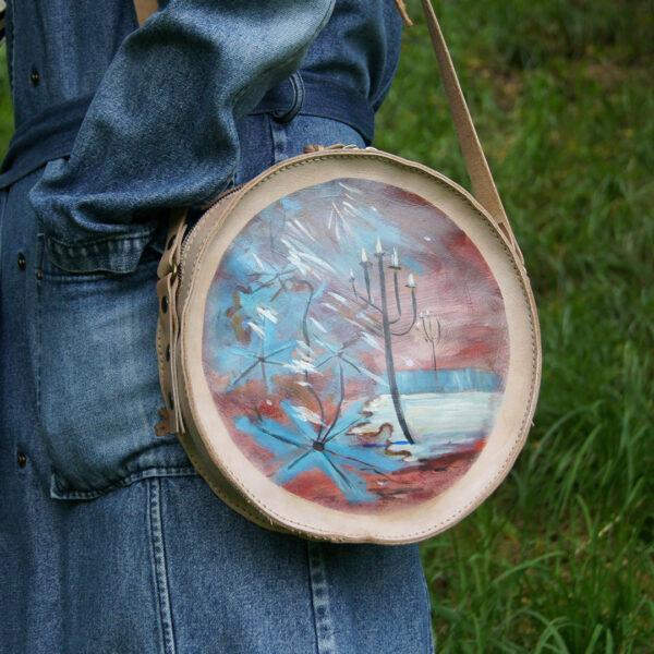 Женская сумка с авторским рисунком