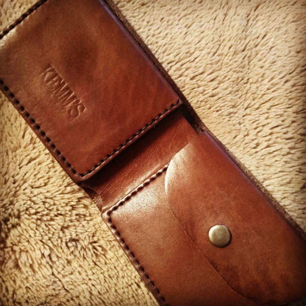 Кожаный бумажник портмоне Kemms Design
