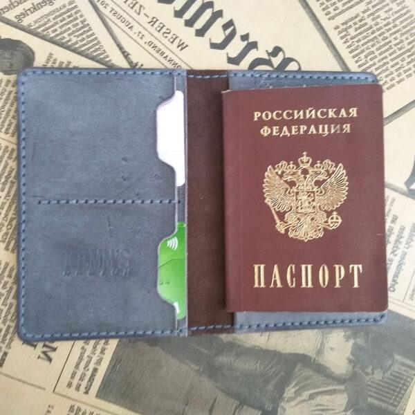 Кожаная обложка для документов для путешествий