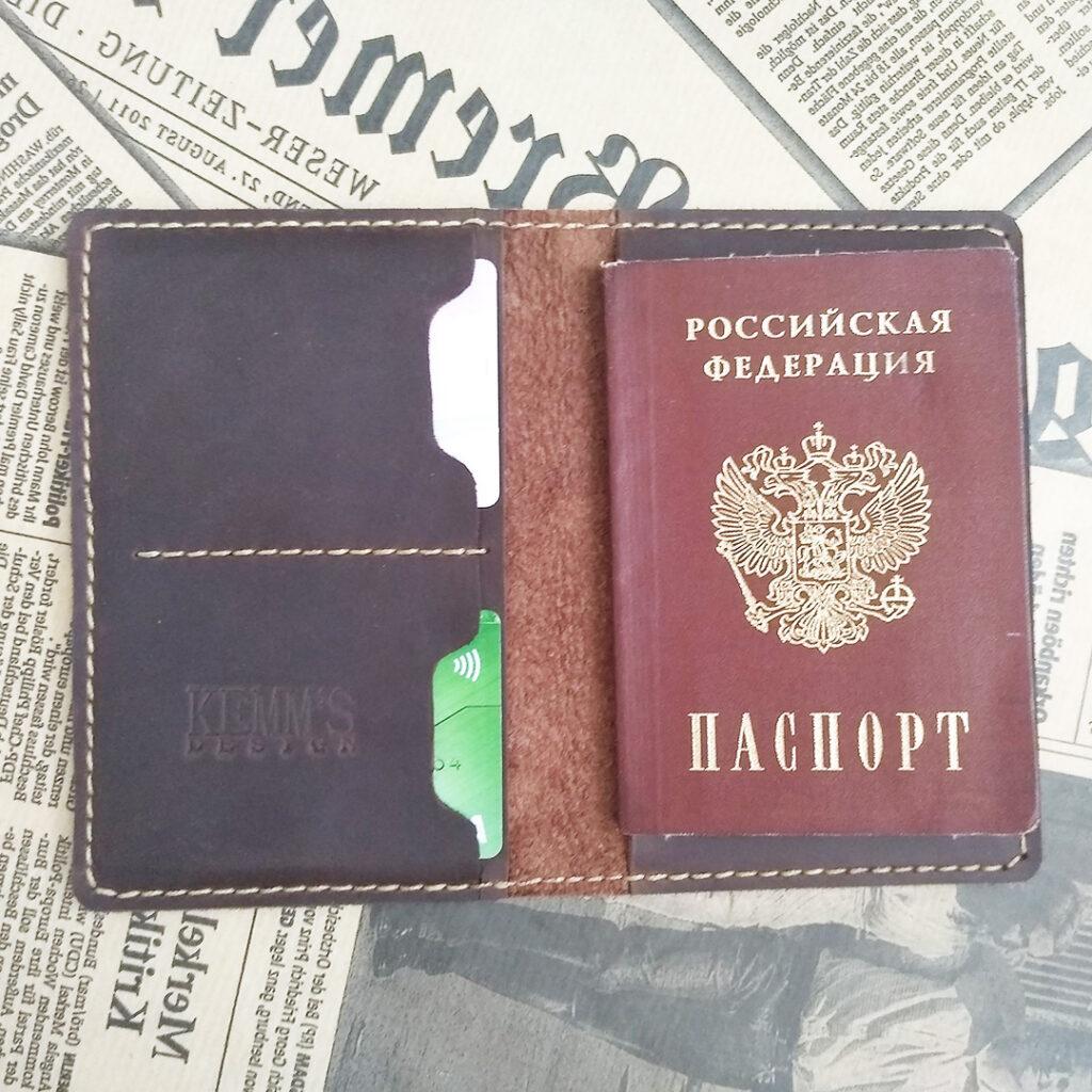 Кожаная обложка чехол для документов для путешествий и повседневного использования