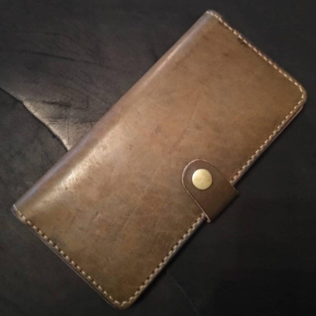 Кожаный лонгер портмоне Kemms Design