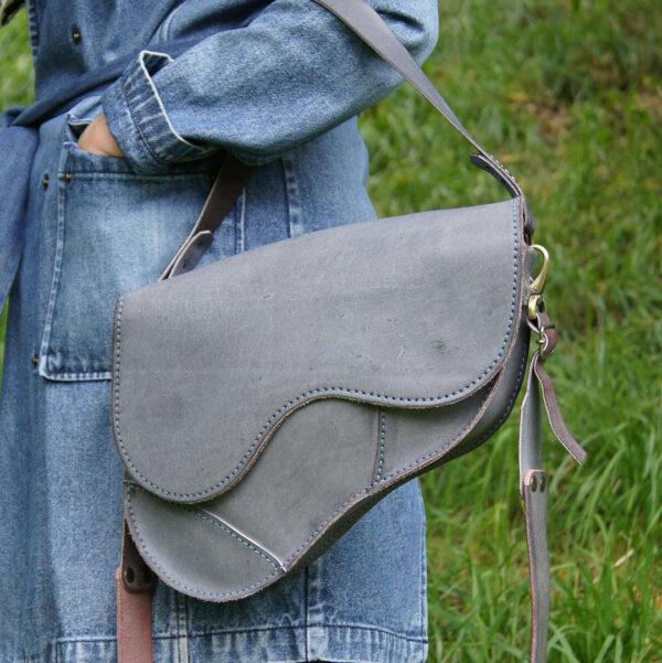 Женская кожаная сумка Седло авторская реплика ручная работа из натуральной кожи