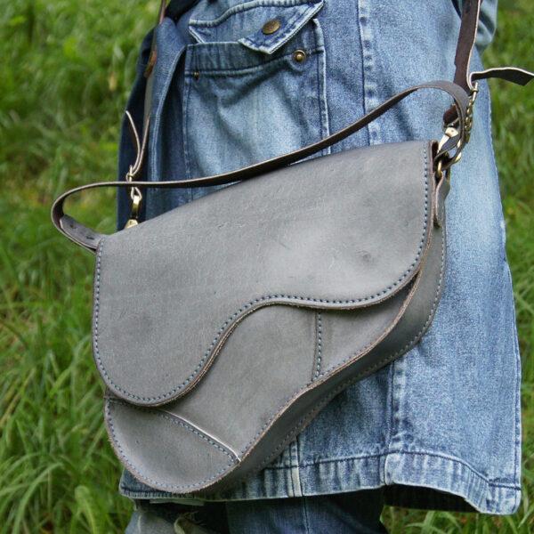 Женская кожаная сумка Седло на заказ