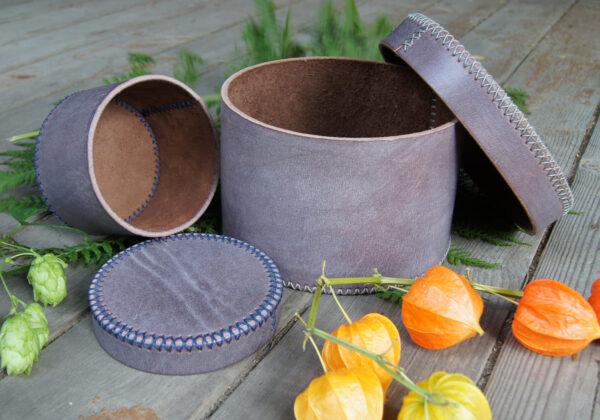 коробочка шкатулка из натуральной кожи