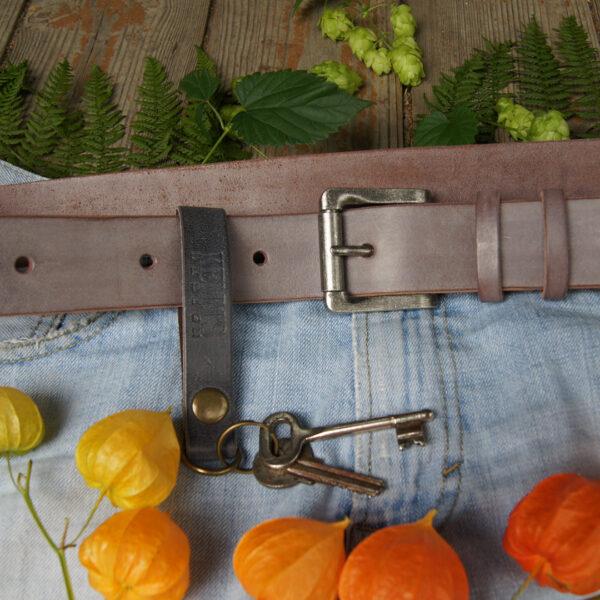 Кожаный ремень 4 см для джинс