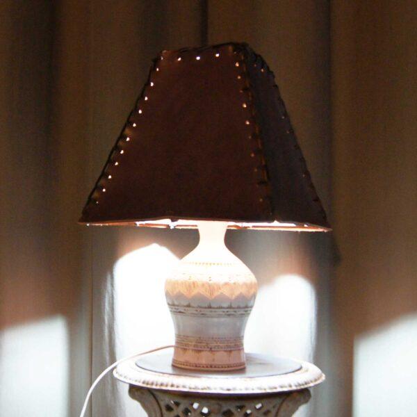 светильник кожаный авторский