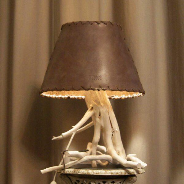 светильник кожаный ручная работа