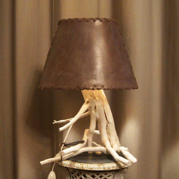 светильник кожаный