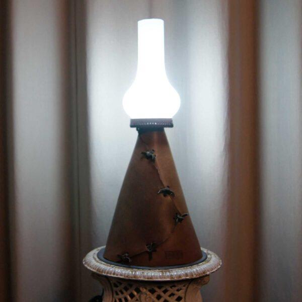 светильник лампа винтажная кожаная