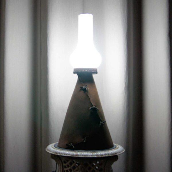 светильник винтаж кожаный