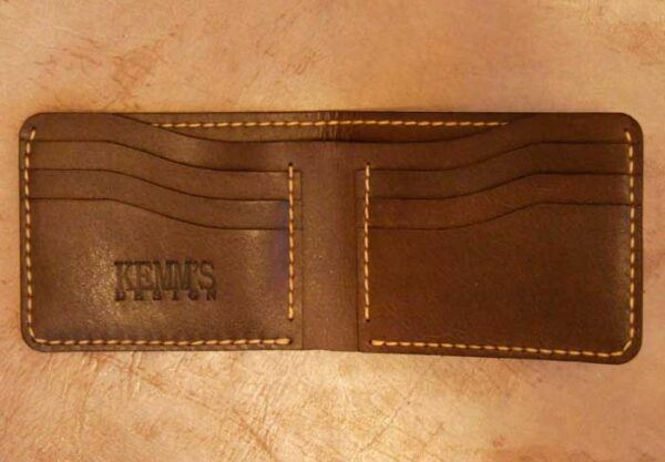 кошелек бифолд кожа коричневый