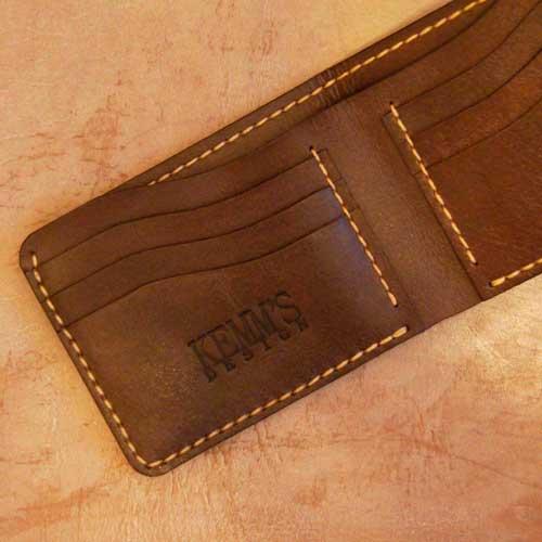 бумажник кожаный коричневый купить