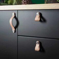 Кожаные ручки для мебели на заказ