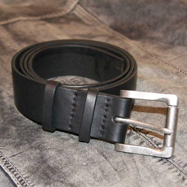 кожаный черный ремень мужской купить
