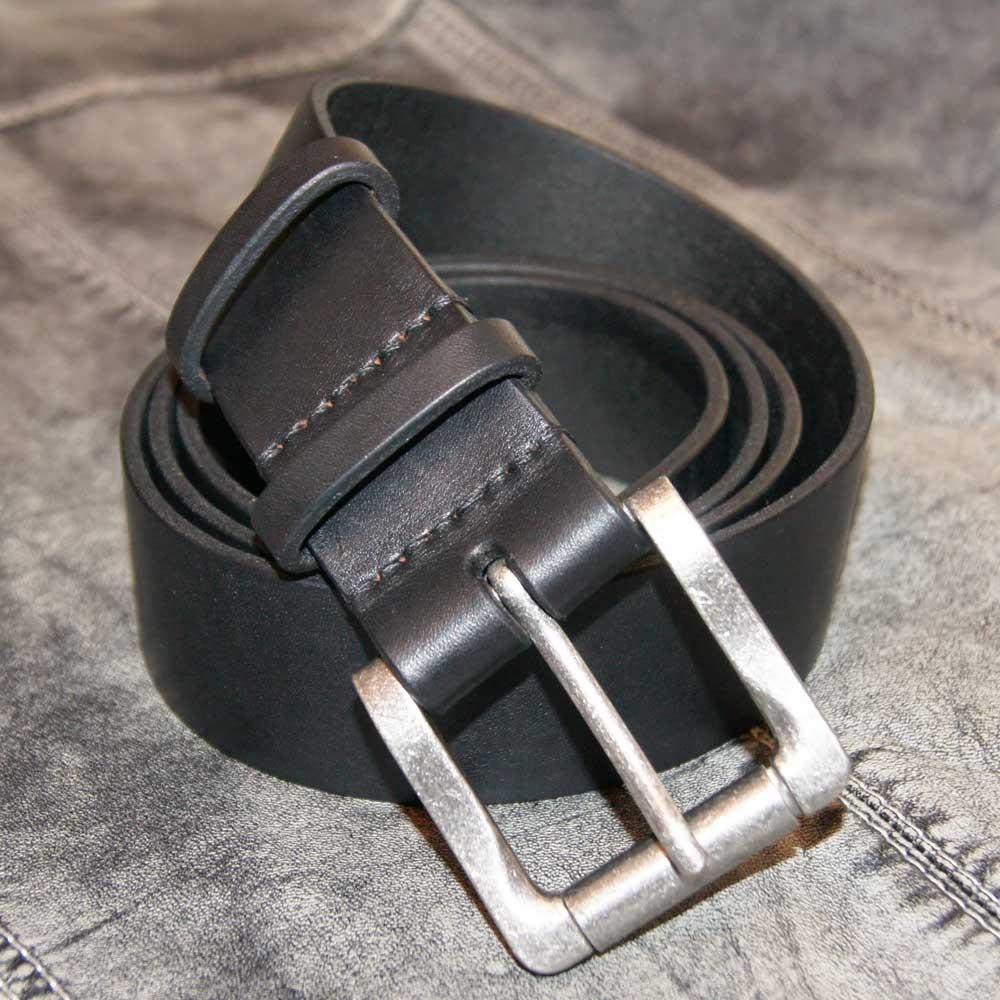 кожаный ремень черный