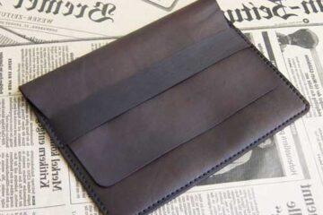 Кожаный чехол для документов на заказ