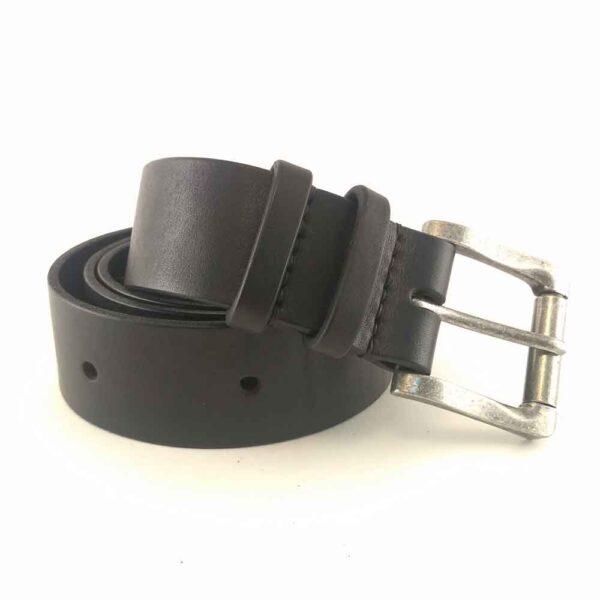 Ремень кожаный черный