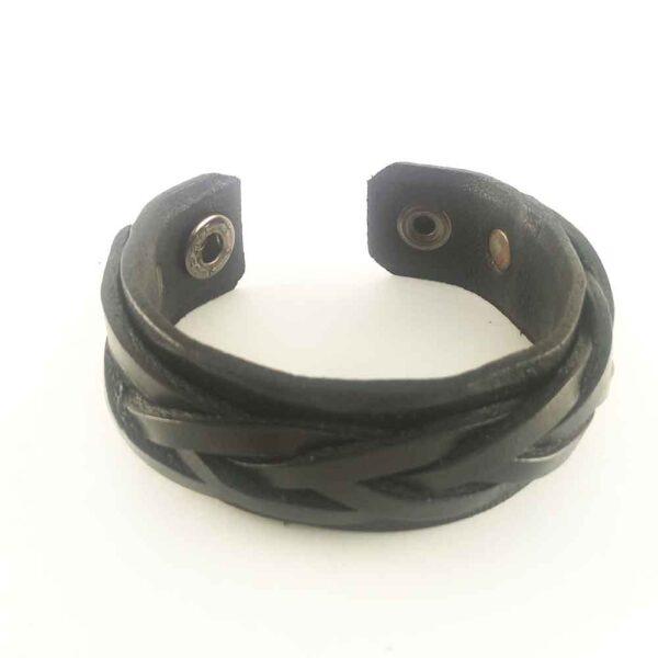Кожаный браслет черный купить