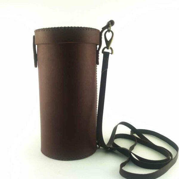 Кожаный футляр для бокала