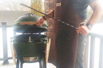 Кожаный фартук для барбекю и гриля на заказ