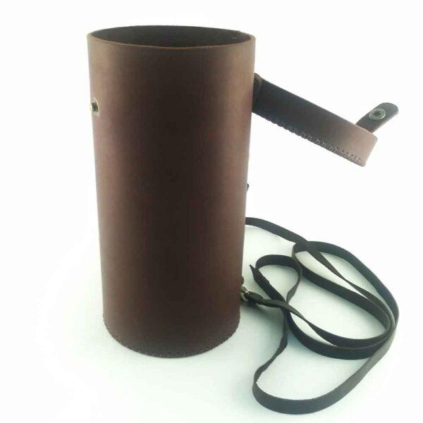 Кожаный тубус для бокала