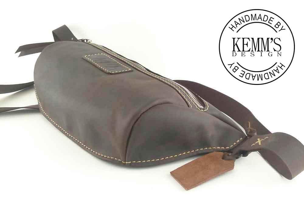 Кожаная сумка Бананка Kemms Design