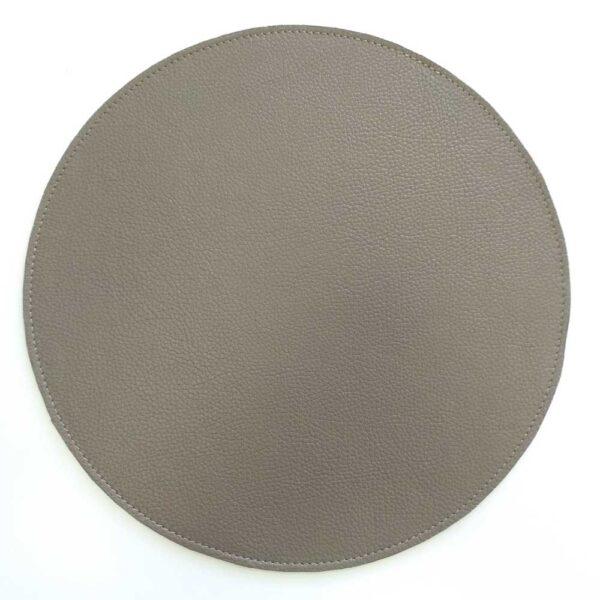 Салфетка для стола из кожи круглая