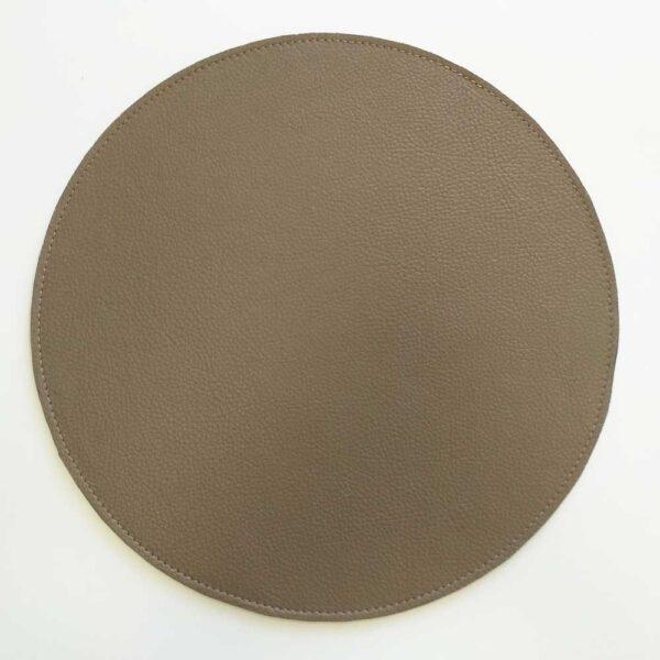 Салфетка для стола кожаная круглая