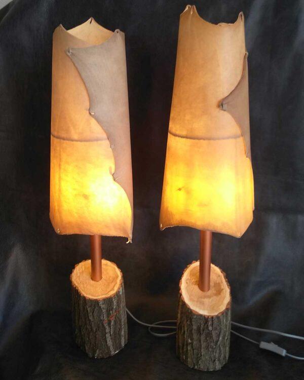 Светильники кожа ручной работы